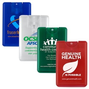 """SanCard"" 20 ml. Antibacterial Hand Sanitizer Spray in Credit Card Shaped Bottle (Overseas)"