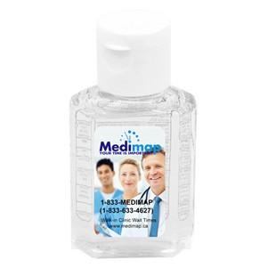 """""""SanPal"""" 1 Oz. Compact Hand Sanitizer Antibacterial Gel in Flip-Top Squeeze Bottle (Label)"""