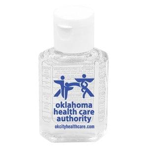 SanPal 1 Oz. Compact Hand Sanitizer Antibacterial Gel w/ Flip-Top Squeeze Bottle (Spot Color)