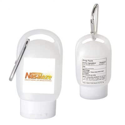 1 Oz. Hand Sanitizer in Carabiner Bottle