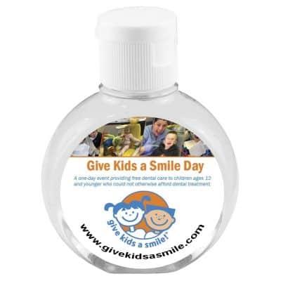 """""""CirPal Plus"""" 2 Oz. Compact Hand Sanitizer Antibacterial Gel in Round Flip-Top Squeeze Bottle (OP)"""
