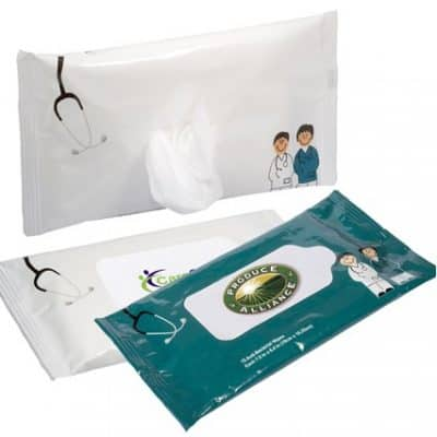 Antibacterial Pouch Wipes (Doctor & Nurse)