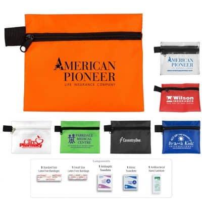 """Safe Helper"" 8 Piece Hand Sanitizer Healthy Living Pack in Zipper Pouch"