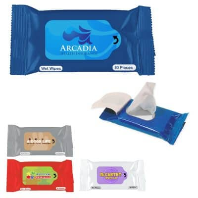 Antibacterial Wet Wipe Packet