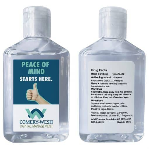 Defender 3.4 oz Hand Sanitizer with Vitamin E