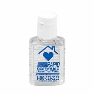 0.5 oz Compact Hand Sanitizer Antibacterial Gel in Flip-Top Squeeze Bottle (Spot Color Print)