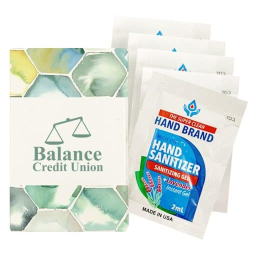 5-Pack Gel Sanitizers With Custom Pack