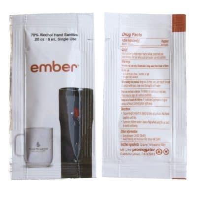 Hand Sanitizer Sachet Gel Packet-White Gloss