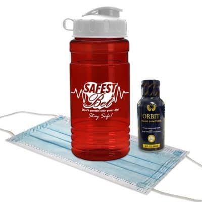 20 oz. Sport Bottle With Hand Sanitizer And Mask