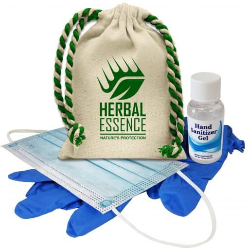 Cotton Drawstring Sanitizer Kit
