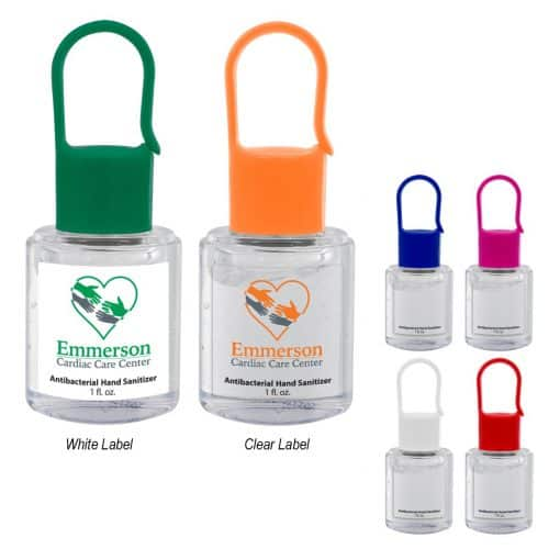 1 Oz. Hand Sanitizer With Carabiner Cap