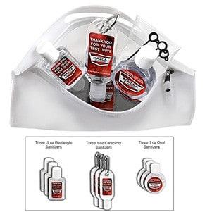 Multi-use 9 Piece sanitizer kit