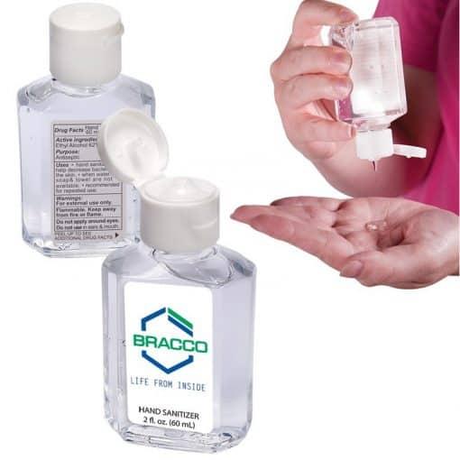 2 Oz. Gel Sanitizer In Square Bottle